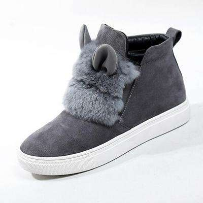 Autumn Rabbit Ears Plush Sports Shoes