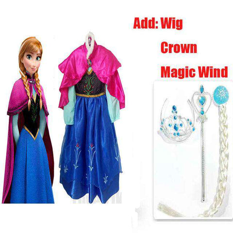 Princess Dress Fever Elsa Kids Party Dress