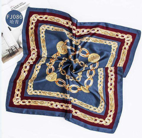 Leopard Square Silk Scarves Womens