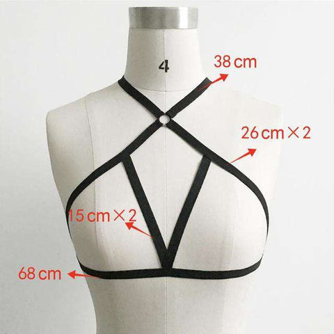Casual Solid Polyester Hollow Out Bandage Strap Bra