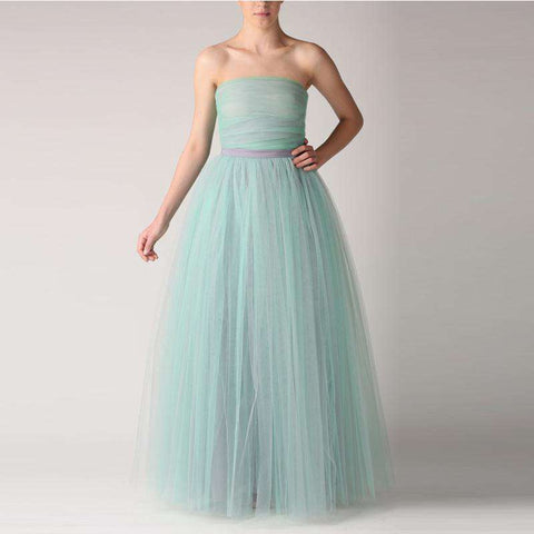 A Line Mint Green Tutu Long Floor Length Skirt