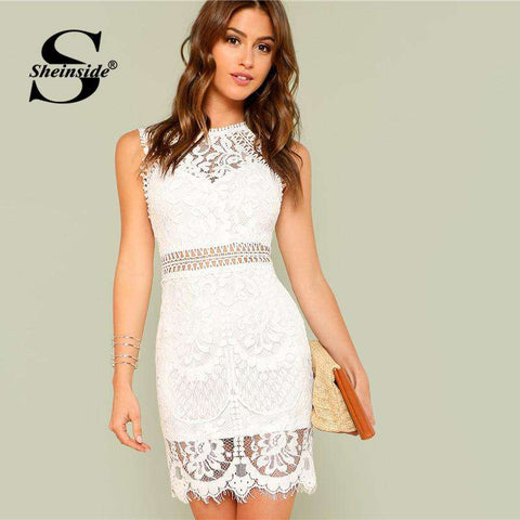 391a7429a9ea Sexy Women's Lace Dress | Pretty Lace Dress for Women – Offer Factor