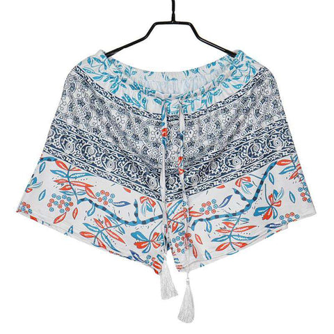Printed Casual High Waist Beach Shorts