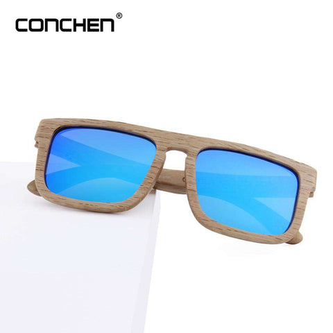 Bamboo Sunglasses Men Square Frame Handmade