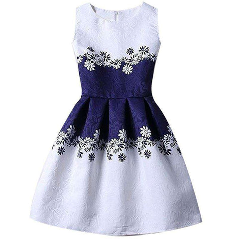 Floral Princess Kids A-line Causal Daily Dress