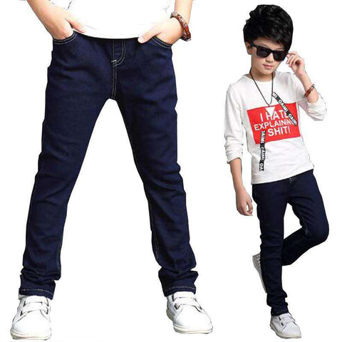 kids trousers denim casual pants children teenage