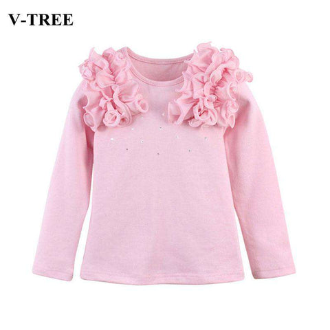 Flower V-TREE Long Sleeve T-shirt Kid Girls