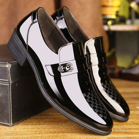 Patent Toe Leather Wedding Men Shoes