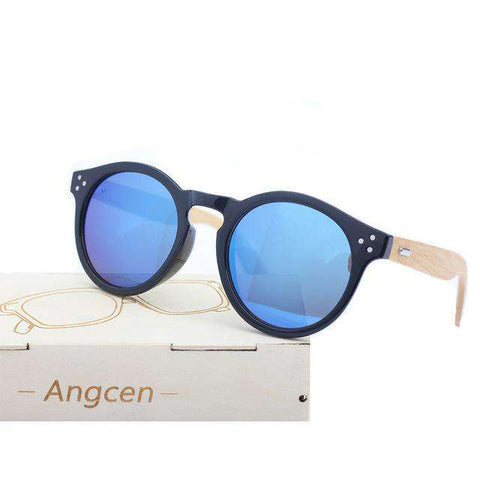 Bamboo Sunglasses With UV400 Protection Lenses Unisex