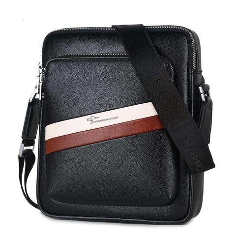Pu Leather Casual Men Crossbody Bags