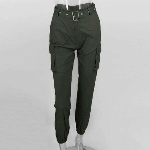 Big Pockets Casual Long Straps Trouser