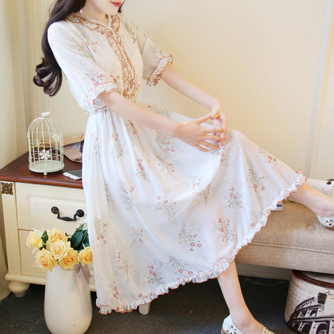 Sweet Elegant Chiffon Midi Dress