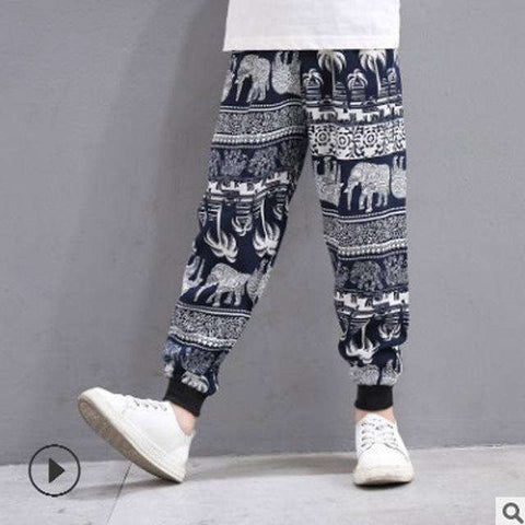 Anti-mosquito Printed Kids Harem Pants