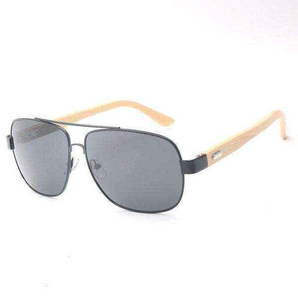Bamboo Metal Frame Wooden Sunglasses Unisex