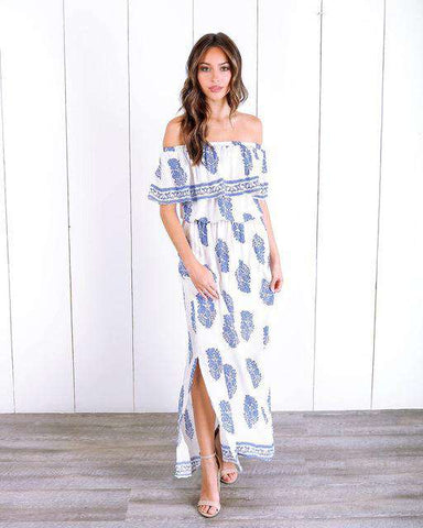Off The Shoulder Beach Summer Dress