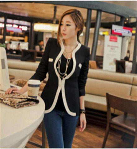 Autumn Women Coat Striped Blazers