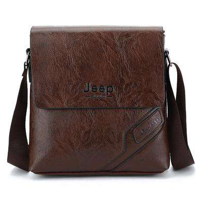 Men's PU Leather Travel Shoulder Bag