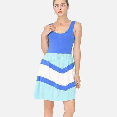 O-neck Mini Classic Sleeveless Dress
