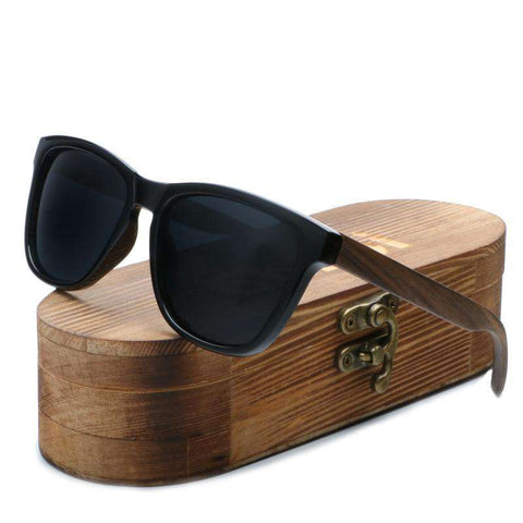 Bamboo Sunglasses UV400 Protect Polarized Lens For Men
