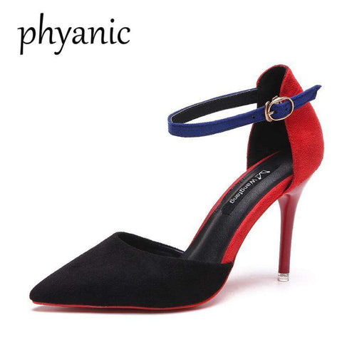 New Vintage Design Red Bottom Party Pumps Heels
