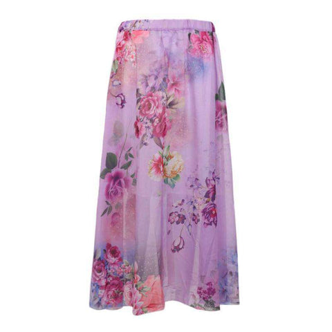 Beach Summer Floral Print Maxi Skirts