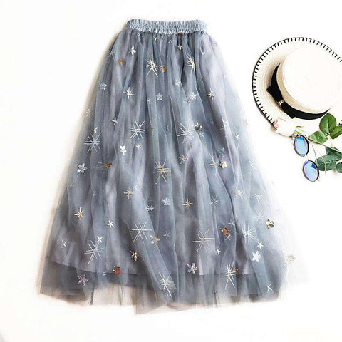 Ankle Length Embroidery Skirts