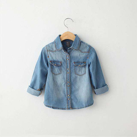 Brand Denim Long Sleeve Kids Spring Autumn Shirts
