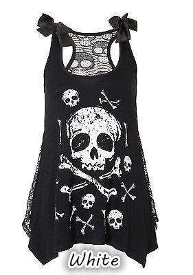 Skull Short Sexy Summer Vest Dress
