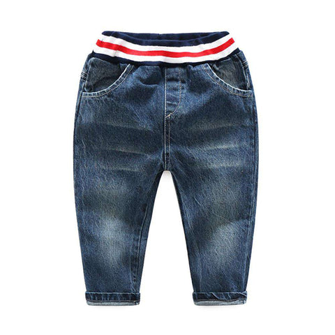 Boy Fashionable Style Kids Long Denim Pants