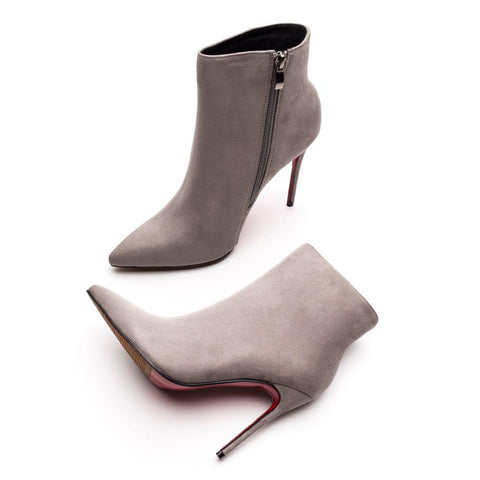 Women High Heels Red Bottom Ankle Boots