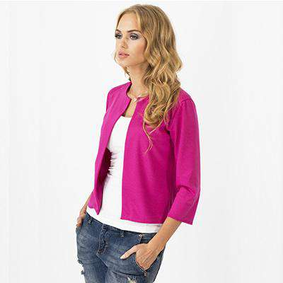 full sleeves no-collar casual blazers