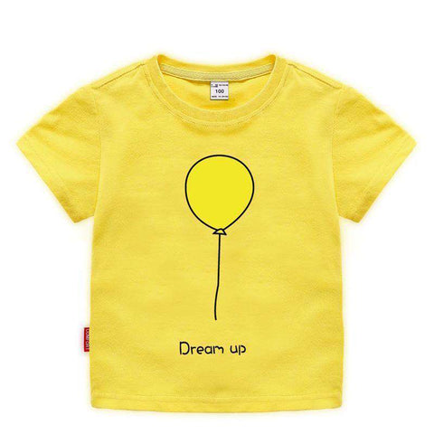 Balloon Cat Short Sleeve Kids T-shirt