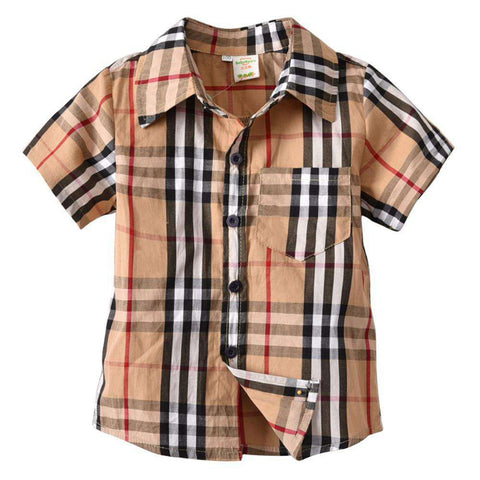 Long Sleeve Plaid Kids Shirt