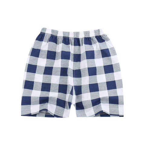 Cotton Plaid shorts For Kids