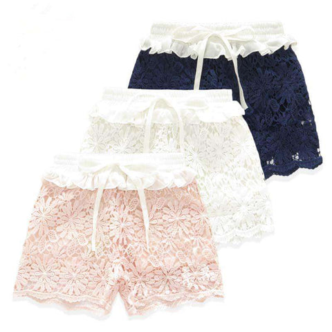 Candy Color Kids Cotton Gauze Lace Skirt