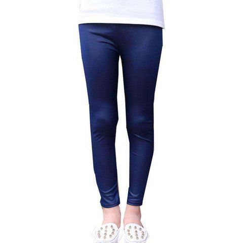 Ankle Length Kids Luster Pencil Pants