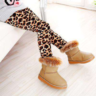 Fashion Leopard Print Keep Kids Warm Leggings