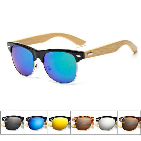 Bamboo Wooden Sunglasses Polarized Lens Unisex