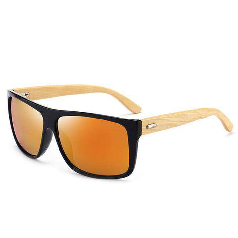 Bamboo Polarized Lens UV400 Sunglasses For Men