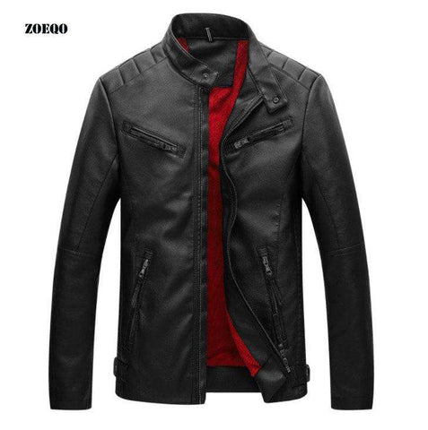 men fashion motorcycle coat leather jackets