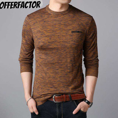 Casual O-Neck Pullover Men tshirt