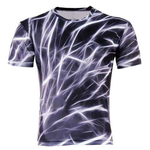 Men Fashion 3D Animal Creative Printed Short Sleeve