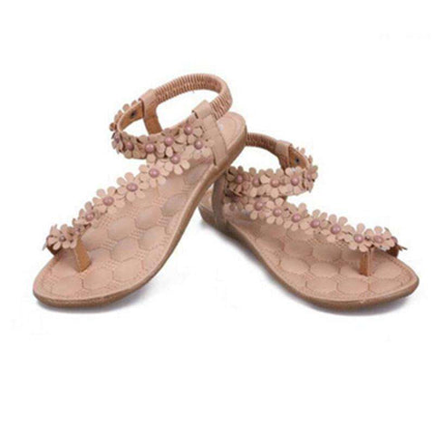 Back Strap Flower Design Sandals