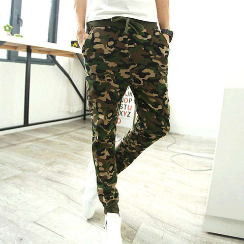 Camouflage Pants Men Casual Jogger Harem Trousers