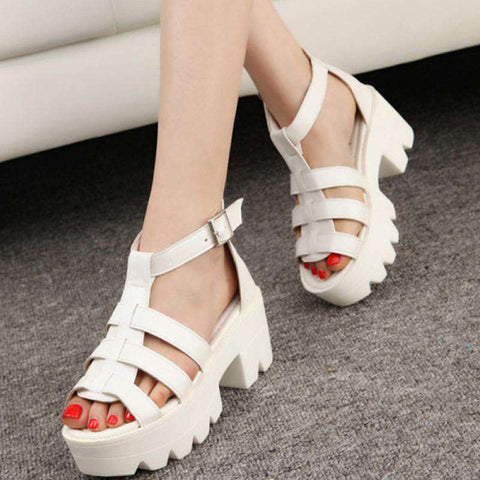 High Sandals Women Gladiator Shoes