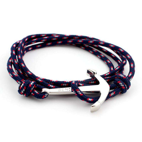 40cm Leather & Anchor Bracelets For Women