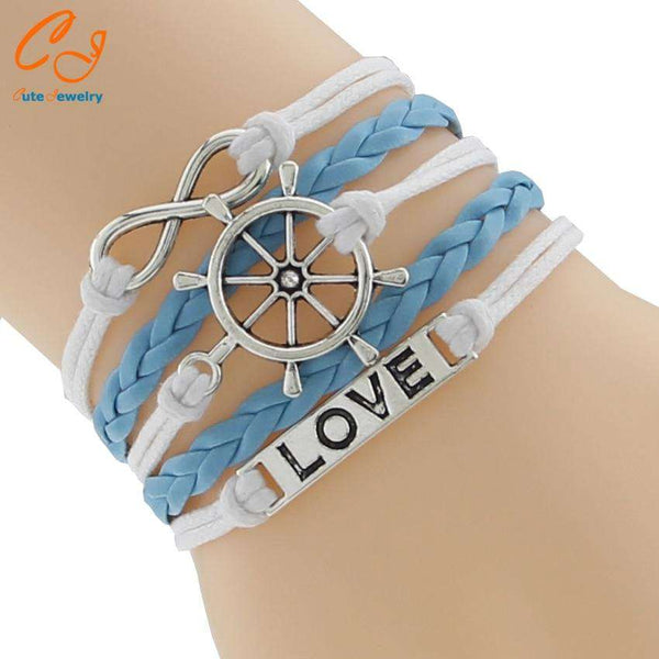 PU Leather Love Handmade Bracelet Women