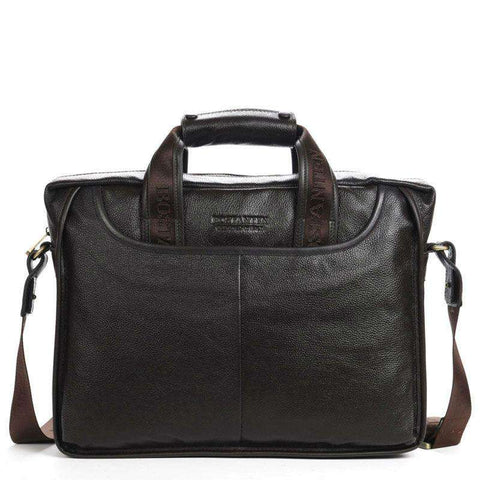 100% Genuine Leather Leisure Men's Messenger Bag