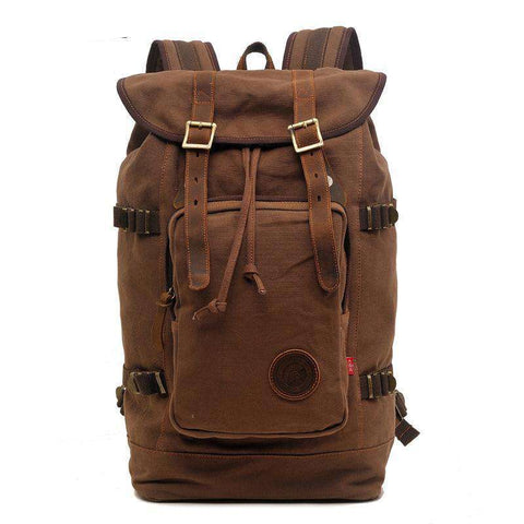 vintage men canvas backpack large capacity travel bag