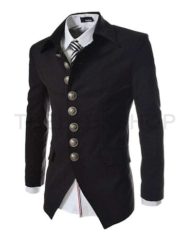 Blazer Jacket Multi-button Design Men's Casual Slim Fit